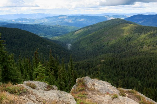The view from the summit of Grandmother Mountain.