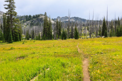 The trail to Upper Hazard Lake.