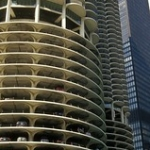 "Marina City • <a style=""font-size:0.8em;"" href=""http://www.flickr.com/photos/56452031@N00/1484583108/"" target=""_blank"">View on Flickr</a>"