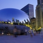 """Millennium Park at Night • <a style=""""font-size:0.8em;"""" href=""""http://www.flickr.com/photos/56452031@N00/841753383/"""" target=""""_blank"""">View on Flickr</a>"""