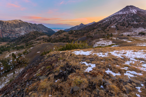 Sunrise and the Wallowa River Valley